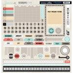 Teresa Collins - Memories Collection - 12 x 12 Die Cut Chipboard Stickers - Elements
