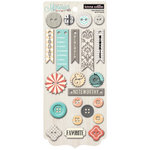 Teresa Collins - Memories Collection - Chipboard Buttons