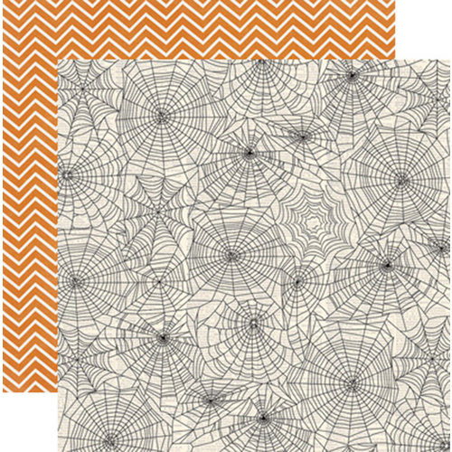 Teresa Collins Designs - Masquerade Party Collection - 12 x 12 Double Sided Paper - Webs