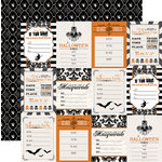 Teresa Collins - Masquerade Party Collection - 12 x 12 Double Sided Paper - Invitations
