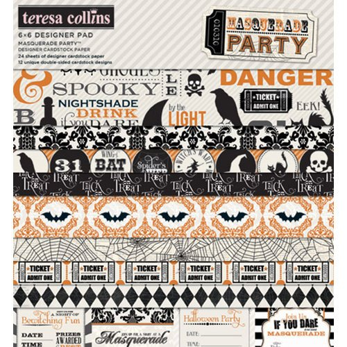 Teresa Collins Designs - Masquerade Party Collection - 6 x 6 Paper Pad