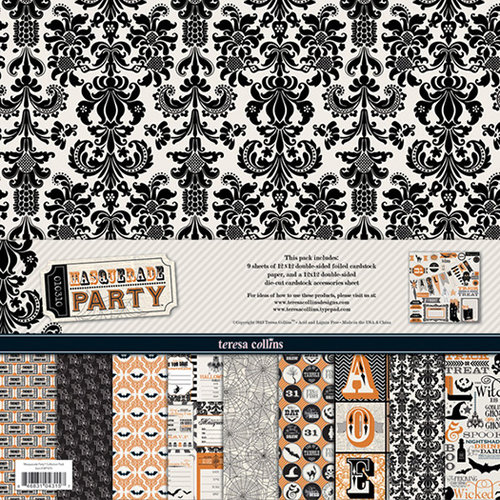 Teresa Collins Designs - Masquerade Party Collection - 12 x 12 Paper and Accessories Pack