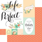 Teresa Collins - Nine and Co Collection - 12 x 12 Double Sided Paper - Perfect
