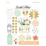 Teresa Collins - Nine and Co Collection - Decorative Foiled Buttons