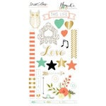 Teresa Collins - Nine and Co Collection - Die Cut Chipboard Stickers - Elements
