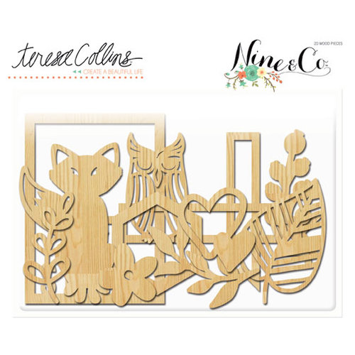 Teresa Collins - Nine and Co Collection - Die Cut Wood Shapes
