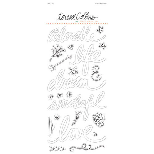 Teresa Collins - Nine and Co Collection - Vellum Stickers - Words