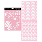 Teresa Collins - Signature Essentials Collection - 8 x 10 Stencil Pack - Shine