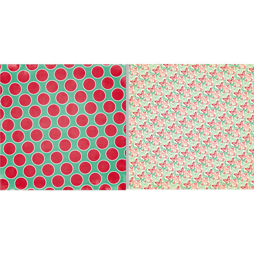 Teresa Collins - Spring Fling Collection - 12 x 12 Double Sided Paper - Big Dots