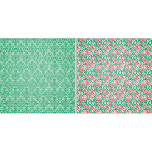 Teresa Collins - Spring Fling Collection - 12 x 12 Double Sided Paper - Paisley