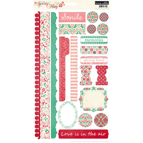 Teresa Collins - Spring Fling Collection - Cardstock Stickers