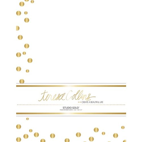 Teresa Collins - Studio Gold Collection - Stationery Pack - Foil Dots