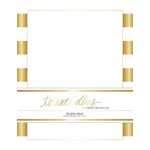 Teresa Collins - Studio Gold Collection - Stationery Pack - Foil Stripes