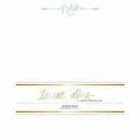 Teresa Collins - Studio Gold Collection - Stationery Pack - Foil Notes
