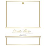 Teresa Collins - Studio Gold Collection - Stationery Pack - Foil Heart