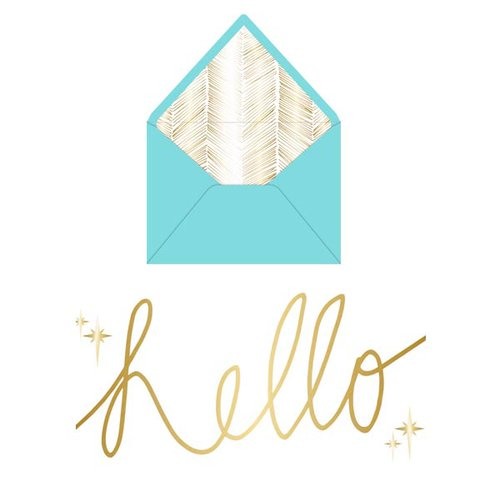 Teresa Collins - Studio Gold Collection - Card Set - Hello