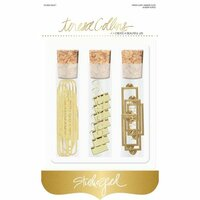 Teresa Collins - Studio Gold Collection - Book Plate and Clip Set