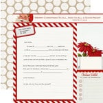 Teresa Collins - Santas List Collection - 12 x 12 Double Sided Paper - Santas Letter
