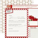 Teresa Collins - Santas List Collection - 12 x 12 Double Sided Paper - Santas Letter