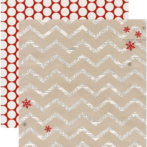 Teresa Collins - Santas List Collection - 12 x 12 Double Sided Paper - Chevron