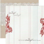 Teresa Collins Designs - Santas List Collection - 12 x 12 Double Sided Paper - Ledger