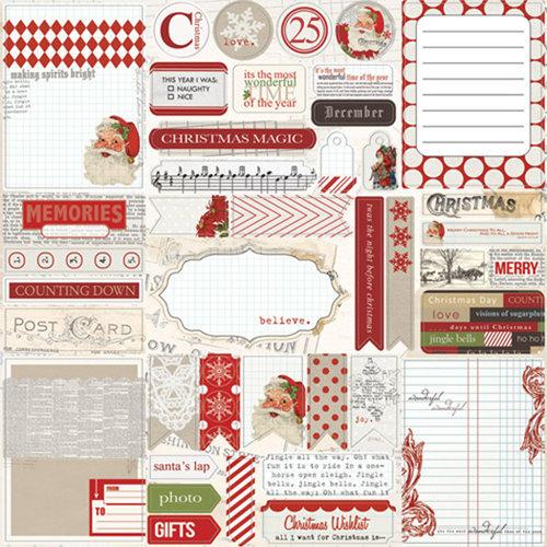 Teresa Collins - Santas List Collection - 12 x 12 Die Cut Paper