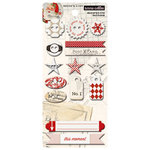 Teresa Collins - Santas List Collection - Chipboard Buttons