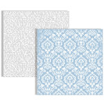 Teresa Collins - Stationery Noted Collection - 12 x 12 Double Sided Paper - Damask