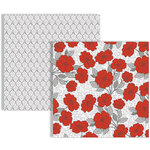 Teresa Collins - Stationery Noted Collection - 12 x 12 Double Sided Paper - Poppies
