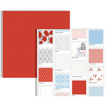 Teresa Collins - Stationery Noted Collection - 12 x 12 Double Sided Paper - Polaroid