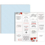 Teresa Collins - Stationery Noted Collection - 12 x 12 Double Sided Paper - Quotes