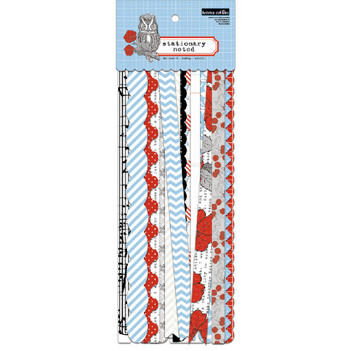 Teresa Collins - Stationery Noted Collection - Border Strips with Glitter Accents
