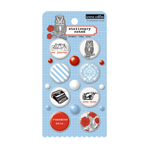 Teresa Collins Designs - Stationery Noted Collection - Decorative Brads