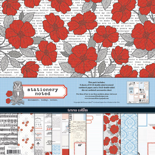 Teresa Collins - Stationery Noted Collection - 12 x 12 Paper and Accessories Pack