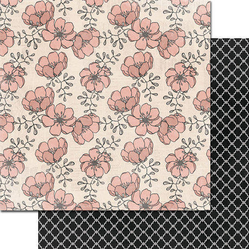 Teresa Collins - Summer Stories Collection - 12 x 12 Double Sided Paper - Flowers
