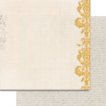 Teresa Collins Designs - Summer Stories Collection - 12 x 12 Double Sided Paper - Damask