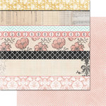 Teresa Collins - Summer Stories Collection - 12 x 12 Double Sided Paper - Stripes