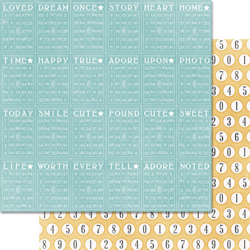 Teresa Collins - Summer Stories Collection - 12 x 12 Double Sided Paper - Bingo