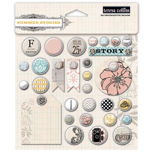 Teresa Collins - Summer Stories Collection - Decorative Brads