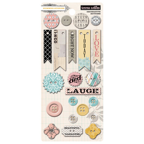 Teresa Collins - Summer Stories Collection - Buttons