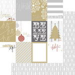 Teresa Collins - Tinsel and Company Collection - Christmas - 12 x 12 Double Sided Paper - Cards