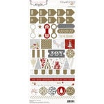 Teresa Collins - Tinsel and Company Collection - Christmas - Cardstock Stickers - Decorative