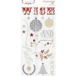Teresa Collins - Tinsel and Company Collection - Christmas - Die Cut Chipboard Stickers - Elements