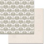 Teresa Collins - Urban Market Collection - 12 x 12 Double Sided Paper with Glitter Accents - Damask