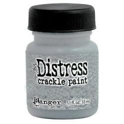 Ranger Ink - Tim Holtz - Distress Crackle Paint - Metallic Brushed Pewter