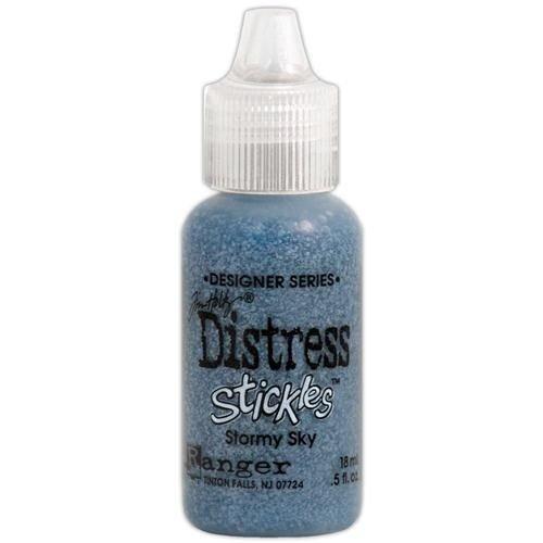 Ranger Ink - Tim Holtz - Distress Stickles Glitter Glue - Stormy Sky