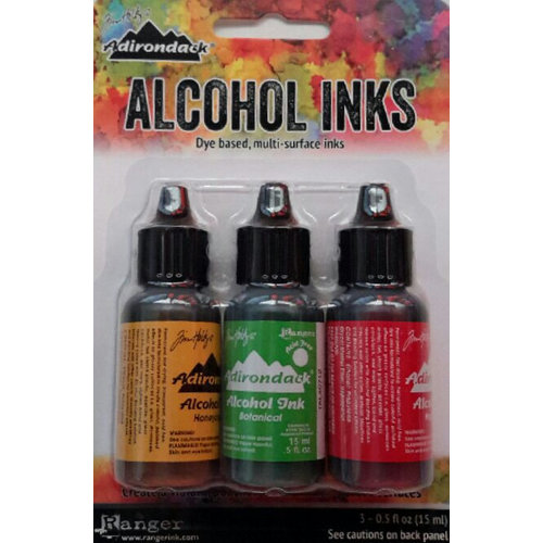 Ranger Ink - Tim Holtz - Adirondack Alcohol Ink - 3 Pack - Conservatory