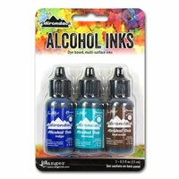 Ranger Ink - Tim Holtz - Adirondack Alcohol Ink - 3 Pack - Mariner
