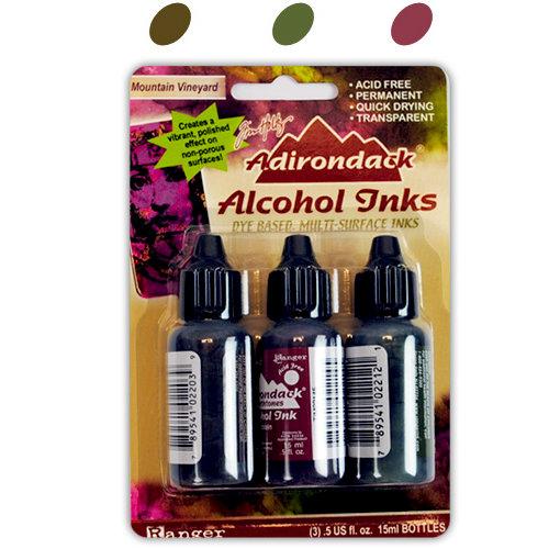 Ranger Ink - Tim Holtz - Adirondack Alcohol Inks - 3 Pack - Mountain Vineyard