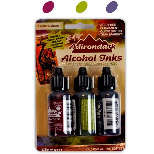 Ranger Ink - Tim Holtz - Adirondack Alcohol Inks - 3 Pack - Farmer's Market